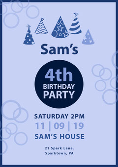 birthday invite for boy  Christmas Party