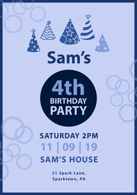 Blue Boy Birthday Party Invitation Birthday Invitation (Boy)