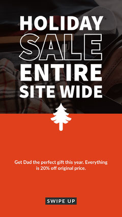Red and Warm Toned Holiday Sale Ad Instagram Story Holiday Sale