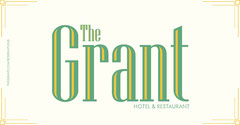 Green and White Hotel and Restaurant Logo Hotels