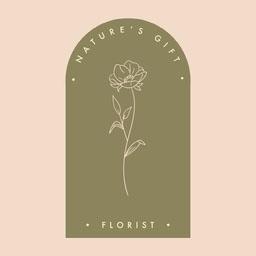 Pink Green Minimal Florist Logo