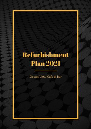black gold refurbishment plan white paper bar a4 Presentation