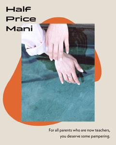 Orange and Pink Abstract Shape Nail Salon Instagram Portrait Ad Nail Salon