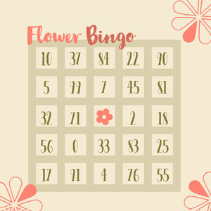 Pink and Green Bingo Card Spillekort