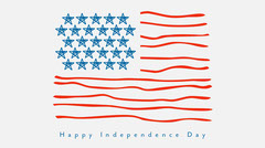 Blue White Red American Flag Happy Independence Day Twitter  4th of July