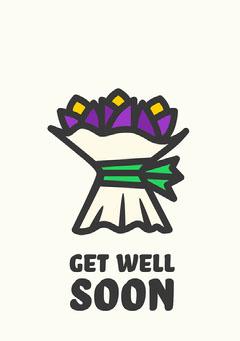 Get well soon flowers Card  Flowers