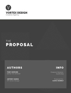 Gray Creative Agency Business Proposal Agency