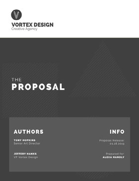Gray Creative Agency Business Proposal Forslag