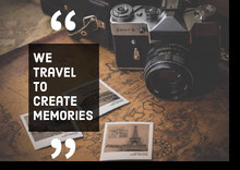 Inspirational Phrase Travel Postcard with Camera Poster