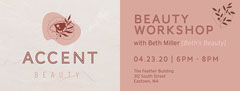 Pink Accent Beauty Eventbrite Banner  Cosmetic