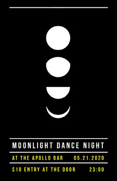 Moonlight Dance Night Event Poster Dance Flyers
