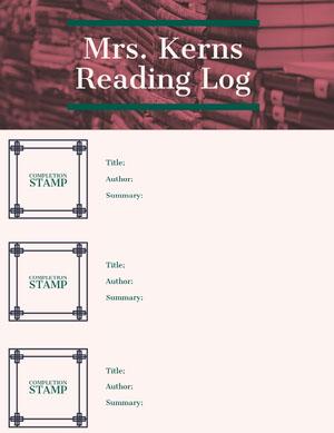 Mrs. Kerns Reading Log