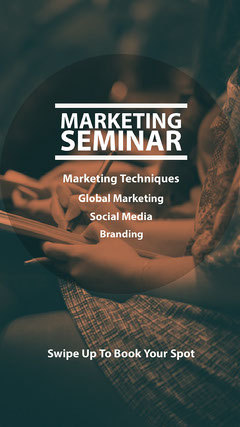 White and Sepia Marketing Seminar Instagram Story Social Media Flyer