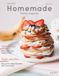 Light Toned Baking Magazine Cover Vegan