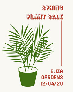 Green and Red Illustrated Spring Plant Sale Instagram Portrait Plants