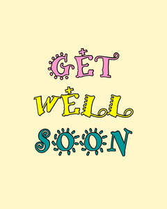get well soon instagram portrait  Wellness