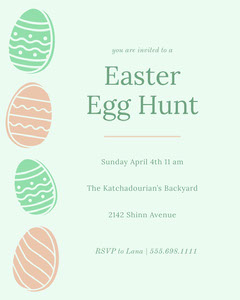Green and Pink Easter Egg Hunt Event Poster Easter