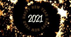 Gold Sparkles Swirl Happy New Year Instagram Landscape New Year