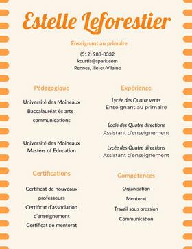 Estelle Leforestier CV professionnel