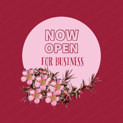 NOW<BR>OPEN<BR><BR><BR><BR> Flowers