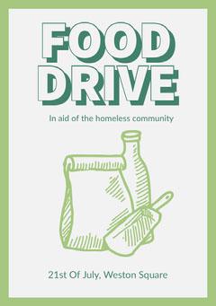 Food Drive Flyer Food