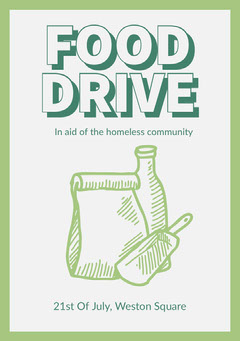 Food Drive Flyer Fundraiser