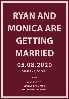 RYAN AND MONICA ARE GETTING MARRIED Weddings