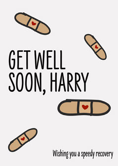 Get well soon plasters Card Heart