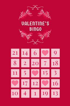 floral frame valentines bingo card Frame