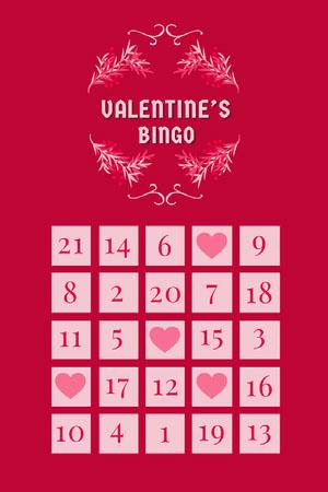 floral frame valentines bingo card Game Cards