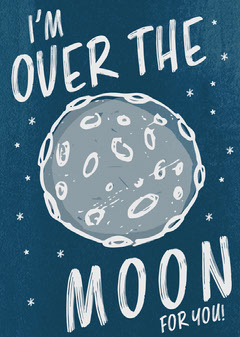 I'm Over The Moon Card Stars