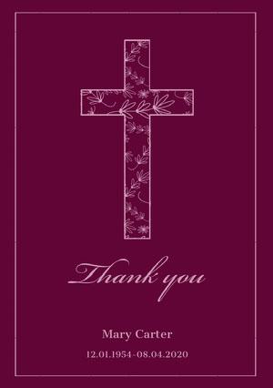 Thank you Carte de condoléances