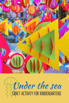 Colorful Kindergarten Paper Craft Activity Pinterest Graphic Fish