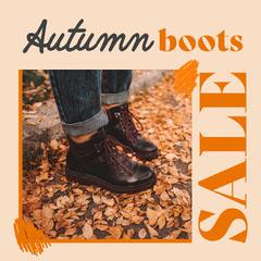 Orange & Cream Boots Fashion Instagram Square Winter