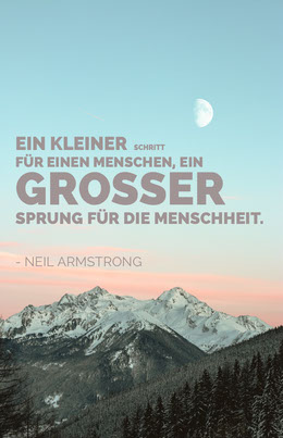 neil armstrong quote poster Flyer