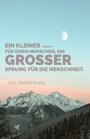 neil armstrong quote poster Poster mit Spruch