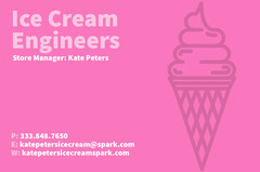 White and Pink Business Card Ice Creams