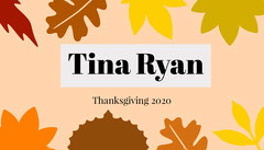 Earthy Tones Autumn Leaves Thanksgiving Dinner Place Card Thanksgiving