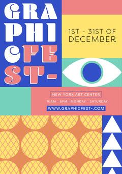 Graphic Fest Flyer Pattern Design