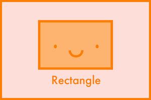 Pink and Orange Flashcard Shapes Rectangle  Flashcard