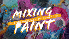Colorful Mixing Paint You Tube Channel Art  Paint