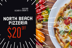 Black and Fresh Pizza Bar Gift Certificate Pizza
