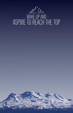 Blue Snowy Mountain Photo Motivational Phrase Flyer Sky