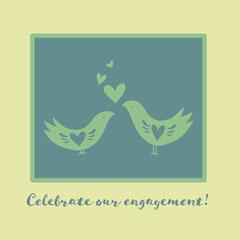 Engagement Announcement Instagram Square Graphic Celebration