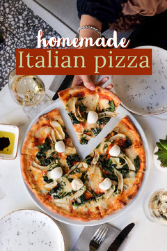Bright Homemade Italian Pizza Pinterest Pizza