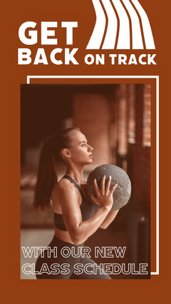 Brown Fitness Action Image Instagram Story Exercises