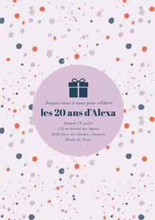 les 20 ans d'Alexa Carte d'anniversaire