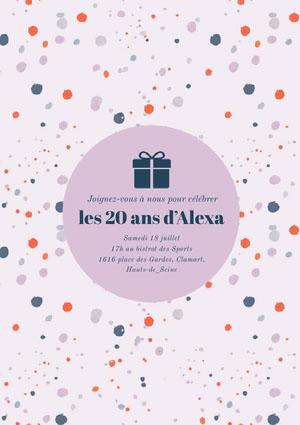 les 20 ans d'Alexa Invitation à une fête