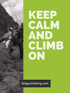 Green, White and Grey Climbing Poster Keep Calm