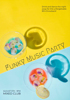 Funky Music Party Club Party